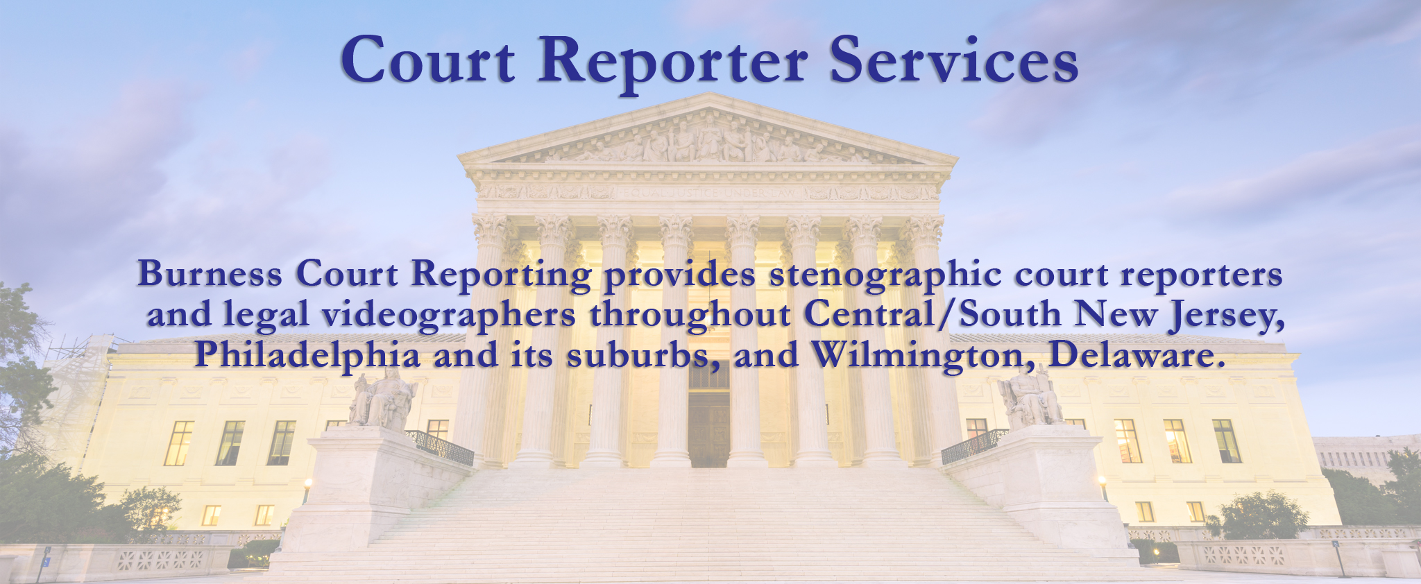 Court reporter services